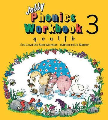 Jolly Phonics Workbook 3 in Precursive Letters (BE) by Sue Lloyd, Sara Wernham