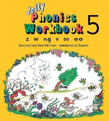 Jolly Phonics Workbook 5 in Precursive Letters (BE) by Sue Lloyd, Sara Wernham