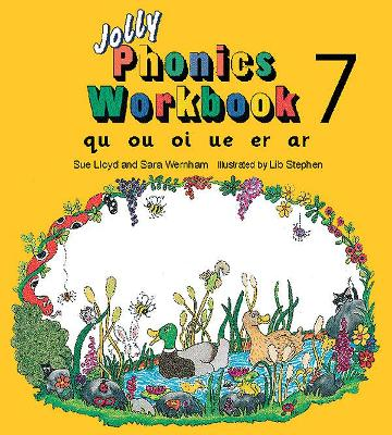 Jolly Phonics Workbook 7 in Precursive Letters (BE) by Sue Lloyd, Sara Wernham