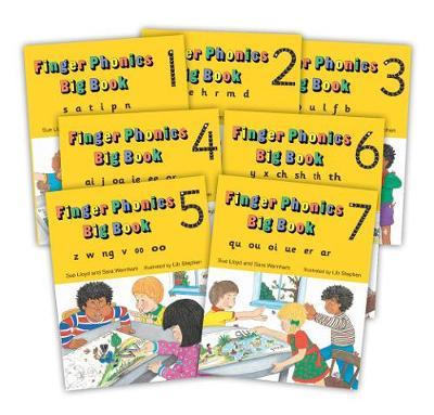 Finger Phonics Big Books 1-7 in Precursive Letters (BE) by Sara Wernham, Sue Lloyd