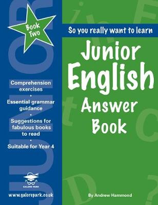 Junior English Book 2 Answer Book by Andrew Hammond