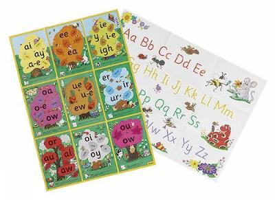 Jolly Phonics Alternative Spelling & Alphabet Posters in Precursive Letters (BE) by Sue Lloyd
