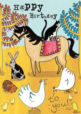 Happy Birthday Colouring: Pets by Alice Lickens
