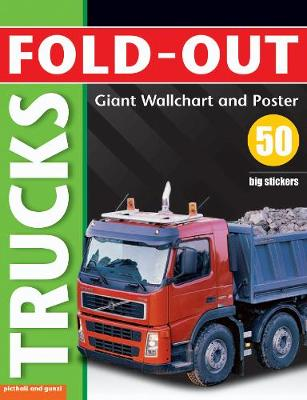 Fold-Out Trucks Sticker Book by Paul Calver