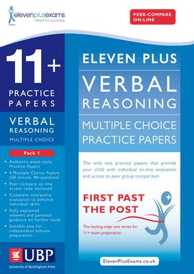 11+ Verbal Reasoning Multiple Choice Practice Papers by Eleven Plus Exams, Educational Experts