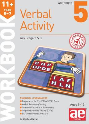 11+ Verbal Activity Year 5-7 Workbook 5 Additional Multiple-Choice Practice Questions by Stephen C. Curran, Mike Edwards, Janet Peace
