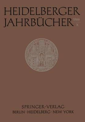 Heidelberger Jahrbucher X by Universitats-Gesellschaft