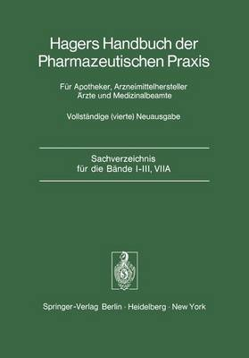 Sachverzeichnis fur die Bande I-III, VIIA by P H List