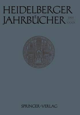 Heidelberger Jahrbucher by Reiner Wiehl