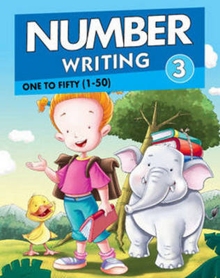 Number Writing 3 One to Fifty (1 to 50) by Pegasus