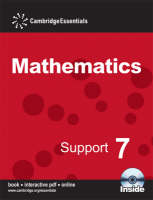 Cambridge Essentials Mathematics Support 7 Pupil's Book with CD-ROM by Peter Sherran, Steven Ellis