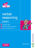 11+ Personal Tutor Verbal Reasoning Papers Standard Version by Frances Down