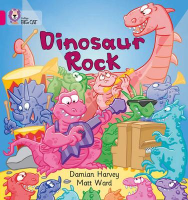 Dinosaur Rock Band 01A/Pink A by Damien Harvey
