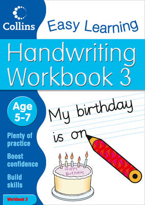 Handwriting Workbook 3 Age 5-7 by Collins Easy Learning