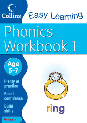 Phonics Workbook 1 Age 5-7 by Collins Easy Learning