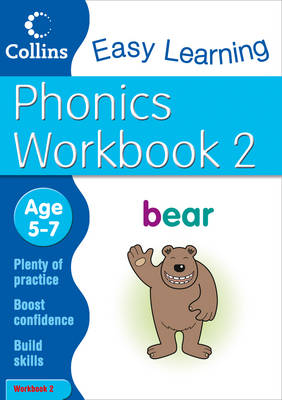 Phonics Workbook 2 Age 5-7 by Collins Easy Learning