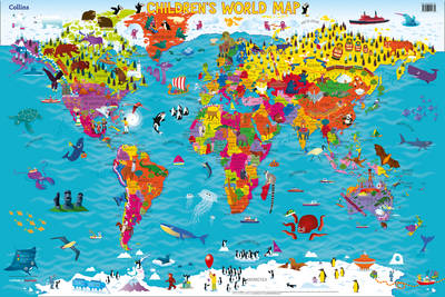 Collins Children's World Map by Collins Maps