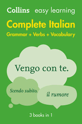 Easy Learning Complete Italian Grammar, Verbs and Vocabulary (3 Books in 1) by Collins Dictionaries