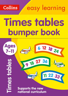 Collins Easy Learning KS2 Times Tables Bumper Book Ages 7-11 by Collins Easy Learning
