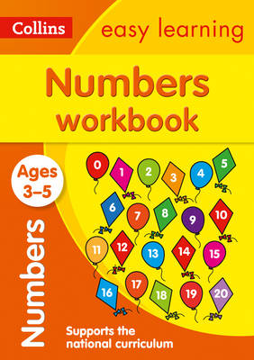 Numbers Workbook Ages 3-5: New Edition by Collins Easy Learning