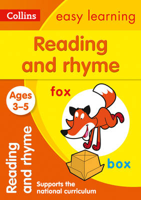 Reading and Rhyme Ages 3-5 by Collins Easy Learning