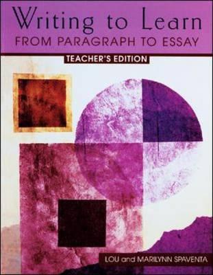 Writing to Learn 3 by Louis J. Spaventa, Marilynn Spaventa