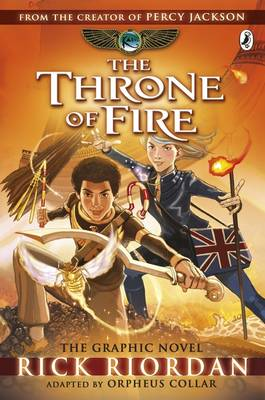 The Throne of Fire: The Graphic Novel The Kane Chronicles by Rick Riordan