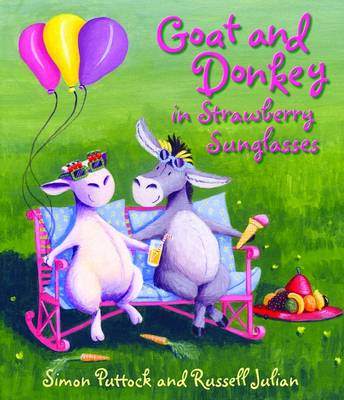 Goat and Donkey in Strawberry Sunglasses by Simon Puttock
