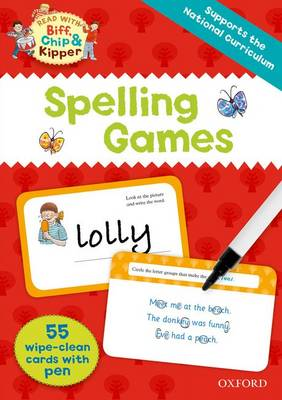 Oxford Reading Tree Read with Biff, Chip and Kipper:: Spelling Games Flashcards by Roderick Hunt, Ms Annemarie Young