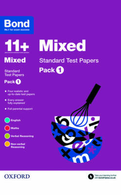 Bond 11+: Mixed: Standard Test Papers Pack 1 by Andrew Baines, Frances Down, Sarah Lindsay, Alison Primrose