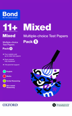 Bond 11+: Mixed: Multiple Choice Test Papers Pack 1 by Alison Primrose, Andrew Baines, Sarah Lindsay, Frances Down