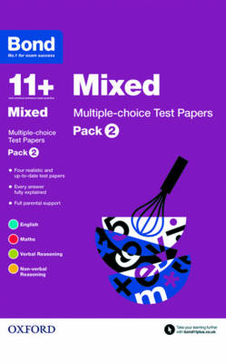 Bond 11+: Mixed: Multiple Choice Test Papers Pack 2 by Frances Down, Alison Primrose, Sarah Lindsay, Bond