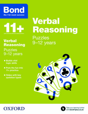 Bond 11+: Verbal Reasoning: Puzzles 9-12 Years by Lynn Adams, Bond