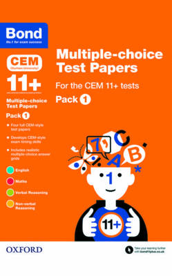 Bond 11+: Multiple-choice Test Papers for the CEM 11+ Tests Pack 1 by Michellejoy Hughes, Bond