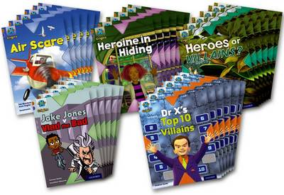 Project X Origins: Brown Book Band, Oxford Level 11: Heroes and Villains: Class Pack of 30 by Jan Burchett, Sara Vogler, Tony Bradman, Andrea Smith