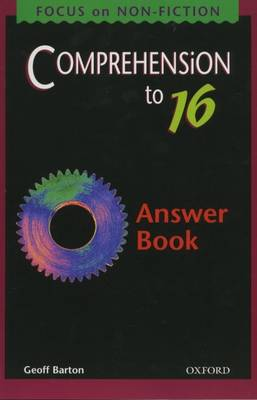 Comprehension to GCSE: Answer Book by Geoff Barton