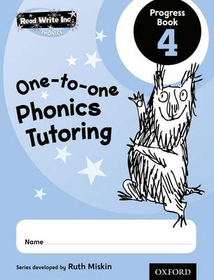 Read Write Inc.: Phonics One-to-One Phonics Tutoring Progress Book 4 Pack of 5 by Ruth Miskin