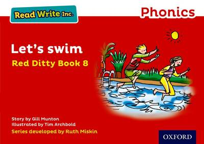 Read Write Inc. Phonics: Red Ditty Book 8 Let's Swim by Gill Munton