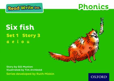 Read Write Inc. Phonics: Green Set 1 Storybook 3 Six Fish by Gill Munton