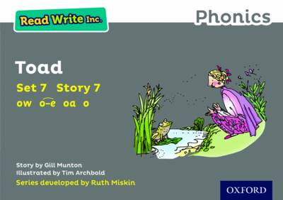 Read Write Inc. Phonics: Grey Set 7 Storybook 7 Toad by Gill Munton