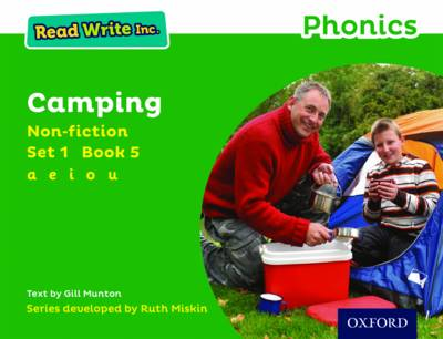 Read Write Inc. Phonics: Green Set 1 Non-Fiction 5 Camping by Gill Munton