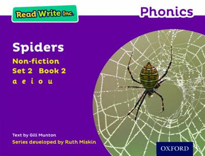 Read Write Inc. Phonics: Purple Set 2 Non-Fiction 2 Spiders by Gill Munton