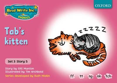 Read Write Inc. Phonics: Pink Set 3 Storybooks: Tab's Kitten by Gill Munton, Ruth Miskin
