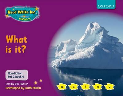 Read Write Inc. Phonics: Non-fiction Set 2 (Purple): What is It? by Gill Munton, Ruth Miskin