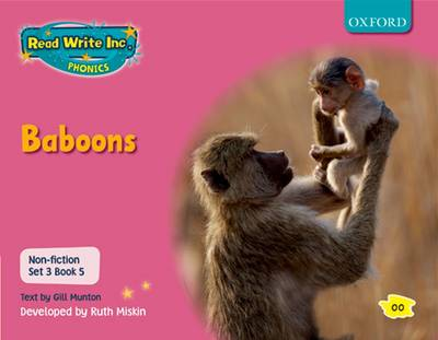 Read Write Inc. Phonics: Non-fiction Set 3 (Pink): Baboons by Gill Munton, Ruth Miskin