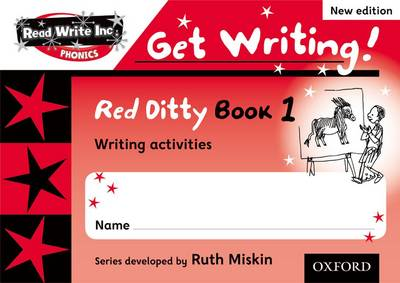 Read Write Inc. Phonics: Get Writing!: Red Ditty Books 1-5 Pack of 50 by Ruth Miskin