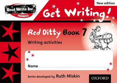 Read Write Inc. Phonics: Get Writing!: Red Ditty Books 6-10 Pack of 50 by Ruth Miskin