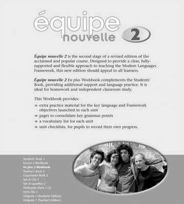 Equipe Nouvelle: 2: En Plus Workbook by Daniele Bourdais, Sue Finnie, Anna Lise Gordon