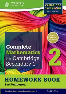 Complete Mathematics for Cambridge Secondary 1 Homework Book 2 (Pack of 15) For Cambridge Checkpoint and Beyond by Sue Pemberton