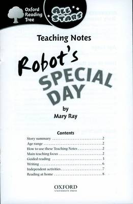 Oxford Reading Tree: All Stars: Pack 1A: Teaching Notes by